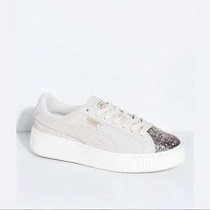 Shoes - PUMA Suede Platform Crushed Gem & Grey Shoes